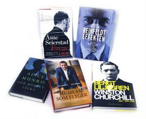 Fina böcker lottas ut till vinnarna. Bland annat Åsne Seierstad som skriver om terrordådet i Oslo.