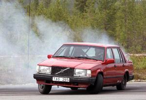 Vann driftingen på Hedlanda gjorde Stefan Dahl med sin Volvo 740