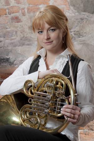 Solohornisten Annamia Larsson inspirerar.