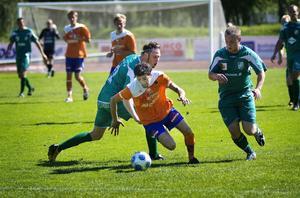 Özkan Yasar var pigg och låg bakom de tre första Bollnäs-målen.