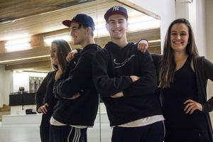 Hannes Lemberg och Emilia Lindestam har dansshowen som sitt slutprojekt under gymnasiet.
