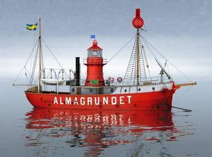Så här såg Almagrundet ut när skeppet fanns i Malmö under åren 1952-1989.