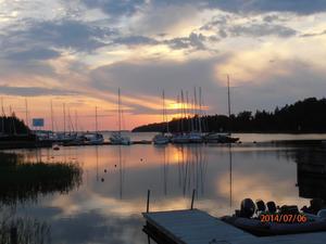 En kvällsbild från Grisslehamn. Foto: Rolf Andersson