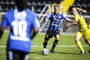 ÖDFFs Julia Hennström gjorde ett styvt jobb på mitten.