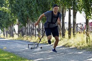 För varje sprint minskas vikterna för Victor.