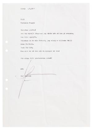 I boken delar Veronica Maggio med sig av ett brev hon fått av Ulf Lundell.