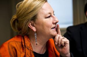 Handelsminister Ewa Björling, med rötter från Norrbotten, trivs i Norrland och kraftsamlar för mer export.