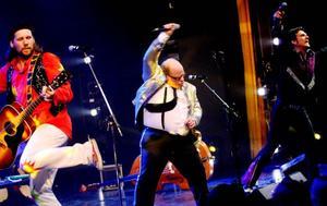 """Lars Vegas Trio firade 20 år med en miniturné hemma i Jämtland i slutet av april . Tre månader senare, den 21 juli, tillhör de debutanterna i årets upplaga av """"Allsång på Skansen"""". Foto: Henrik Flygare"""