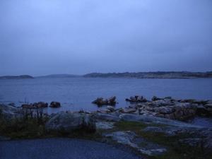 Blå kvällsljus över Saltö söder om Strömstad.Foto: Andreas Strömberg