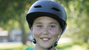 Isac Sundstedt Sikström, 11 år, kickbikeåkare, Fagersta: – Det är bra tycker jag. Då behöver man inte åka till Avesta för att kunna åka. Fast det hade varit ännu roligare med en hel skejtpark.