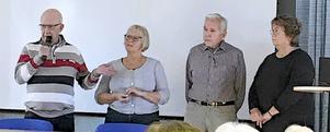 Länsföreningen HjärtLung Dalarna har arrangerat två föreläsningar på temat livsstilsförändrinmgar och hjärtsvikt vilket lockade många deltagare. På bilden syns fr v Lars-Göran Ljungdahl, Ing-Mari Andersson, Ingemar Johansson, Marianne Karlin från HLR Borlänge.