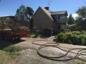 Villa i Kramfors i brand vid Riksväg 90