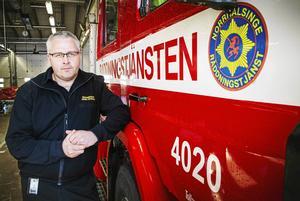 Anders Zetterlund, förvaltningschef för Norrhälsinge räddningstjänst.