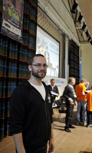Anders Österberg från Teknikland, som är en av arrangörerna till tävlingen tillsammans med Mittuniversitetet och Region Jämtland Härjedalen.