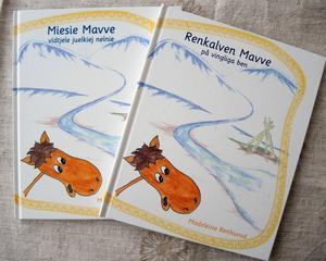 Boken om Mavve på såväl samiska som svenska.