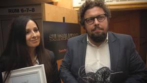 Gajane Kalatshjan och Vygantas Kirejevas på Zero Parallax blev utsedda till Årets innovatörsteam på Guldgalan i fjol.