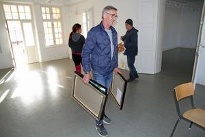 Bror Jakobs från Gustafs är en av utställarna under lördagens vernissage i Skönvik.