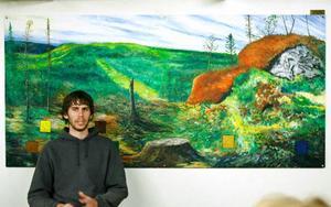 Snowboardåkaren och fotografen Mikael Frisk startade Café Karibu för tre år sedan.  Foto: Henrik Flygare