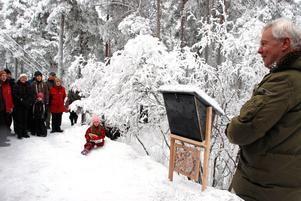 Många kom till Naturrum för att se fåglarna där och lyssna på Staffan Müllers föredrag.