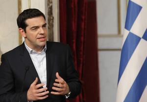 Syrizas partiledare och Greklands premiärminister Alex Tsipras.
