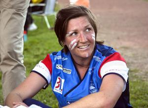 Karin Trolin sprang i Forsa lag vit som sprang in på andra plats i breddkavlen.
