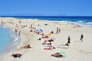 Vattnet vid Formentera är klart som i Karibien.