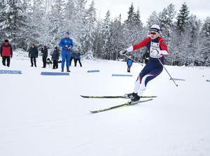 Emil Rapp från SK Leksand lyckade ta hem segern i den hårda klassen H15-16.
