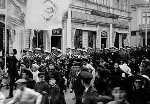 Firandet av studentexamen i Östersund år 1912. Foto: Jamtli