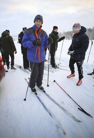Peter Berling tycker det är jätteroligt att åka skidor.