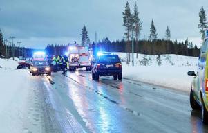 Det var mycket halt på olyckplatsen då isen var täckt med vatten
