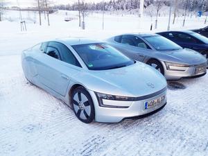 Patrik Modin fångade denna skapelse på bild i Östersund på måndagen. En VW som enligt uppgift ska klara av hela tio mil på en liter.