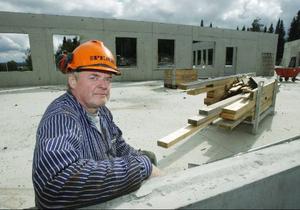 – Ett ovanligt bygge utan räta vinklar, säger arbetsledaren Göran Jonsson.