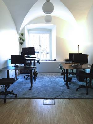 Här i lokaler i Gamla Stan i Stockholm ska nya spel skapas.