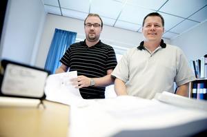 Christer Lundqvist och Peter Zettersten har startat eget företag tillsammans med kollegan Tomas Sundquist som saknas på bild.