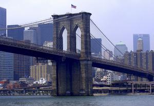 Brooklyn Bridge, där slutscenen i Godzilla utspelar sig.
