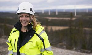 Sara Eriksson är platschef på jättebygget.