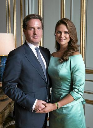 Chris O´Neil och prinsessan Madeleine gifter sig den åttonde juni. Bilden är från lysningen. Foto Jonas Ekströmer/Scanpix