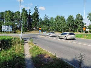Rondell 1: korsningen Sätrahöjden/Skånbergsleden.