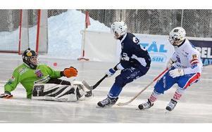 Mindre än två minuter var spelade när Patrik Allansson-Roos kom igenom och gav Borlänge ledningen med 1–0.FOTO: SVEN-ERIK KARLSSON