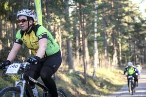 Viktor Fredholm från Ljusdals CK påbörjar sitt sista varv.