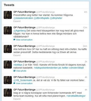 Från ordningspolisen Falun/Borlänges officiella twitterkonto.