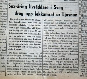 Torsdagen 17 april var denna artikel en av nyheterna i Tidningen Härjedalen.