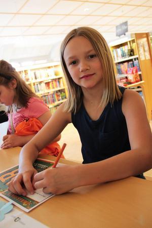 Stella Höije, 9 år, lånade många böcker.