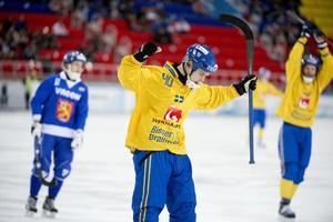 Hammarbys Adam Gilljam blev målskytt när Sverige besegrade Finland i en träninglandskamp.