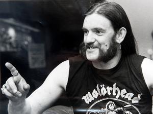 Motörheads Lemmy Kilmister i Södertälje 1985.