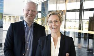 Modos ekonomichef Jan Sjölund och vd Charlotte Gustavsson.