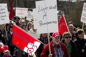 1 majdemonstrationen i Hallstahammar 2013. I år höll en lång tradition på att få ett avbrott: Polisen hade inte gett något demonstrationstillstånd.