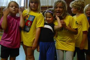 Gymnaster. Barnen på Summer camp 2007 har fått testa på massor av aktiviteter under veckan som gått. Foto:Jenny Lagerstedt