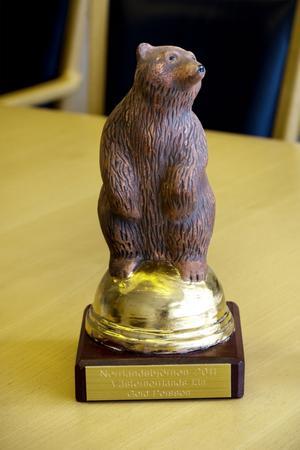 Gerd Persson fick Norrlandsbjörnen 2011 för särskilda insatser inom samhälls- och näringsliv. Priset delas ut av Norrlandsförbundet.