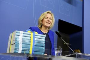 Finansminister Magdalena Andersson (S) presenterade höstbudgeten på måndagsmorgonen.